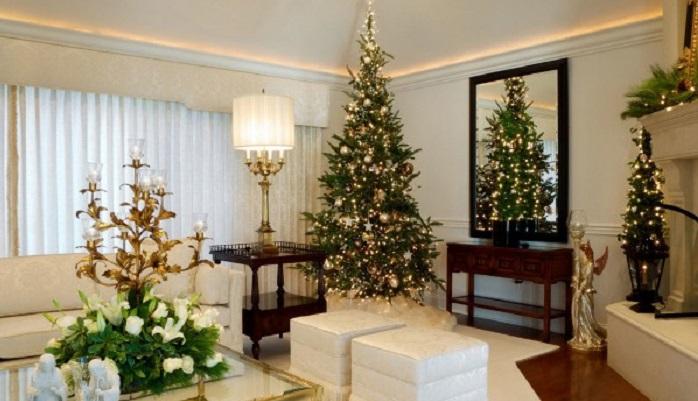 Интересные новогодние оформления жилых помещений, 30 фото
