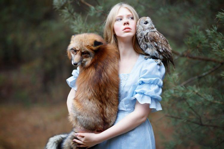 Юные красотки с животными